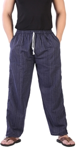 mens stripe cotton comfy casual summer beach hippie workout pajama yoga pants clothes with pockets