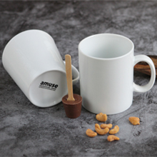 amuse home white mug porcelain cozy
