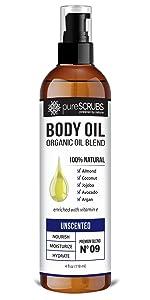 pureSCRUBS Unscented Body Oil