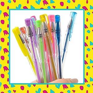 GirlZone Regalos para Niñas - Bolígrafos De Gel - Set De 30 Bolis De Tinta De Gel De Colores - Manualidades - Bolis De Colores, Gel Pens, 3 a 12 años: Amazon.es: Oficina y papelería