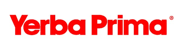 Yerba Prima in red font - the logo