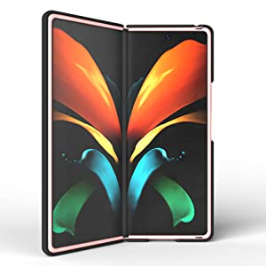 Case with Clip for Galaxy Z Fold 2, Nakedcellphone, Slim Cover Custom Belt Hip Holster Holder Stand