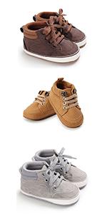Baby Boys High-Top PU Sneakers
