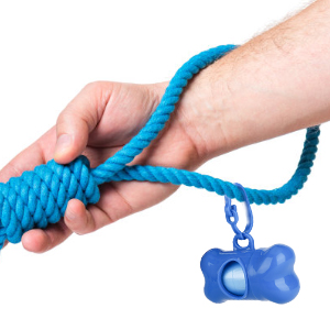 Our dispenser with carrying clip can attach to the leash or collar