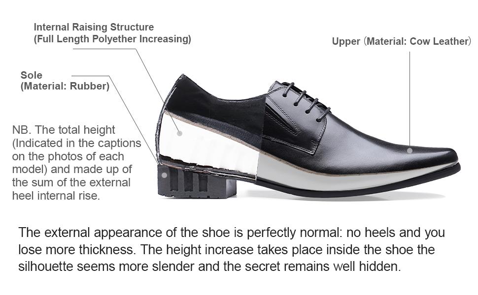 mens elevator dress shoes