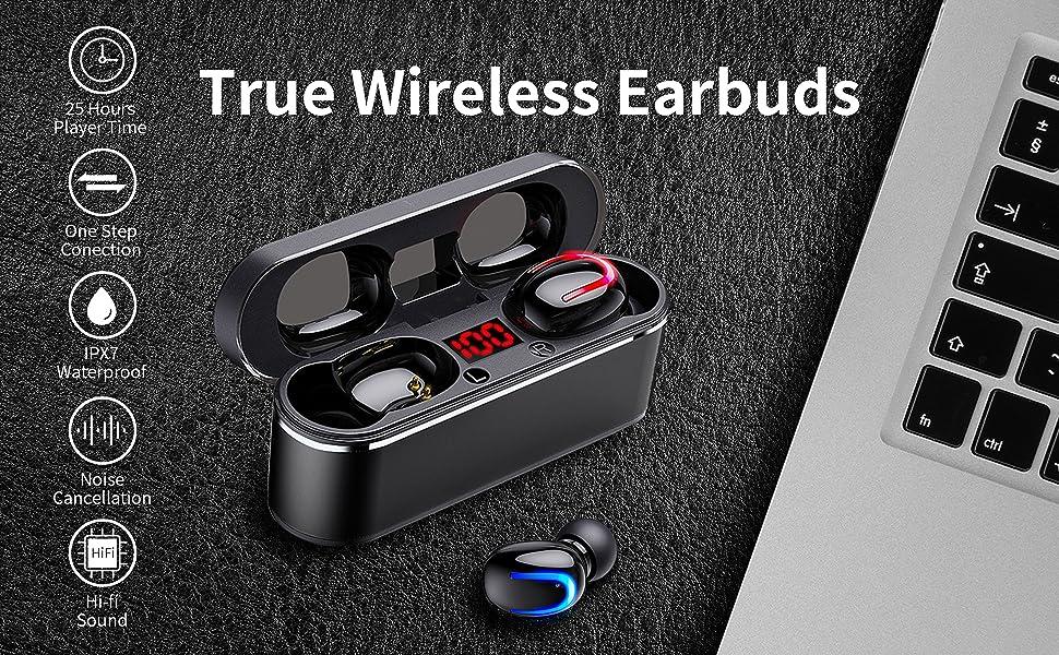 true wireless earbuds running headphones earphones wireless  headphones in ear  bluetooth earbuds