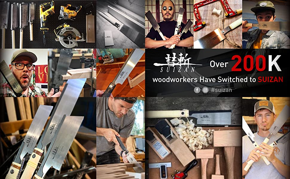 Over 200K woodworkers have switched to SUIZAN
