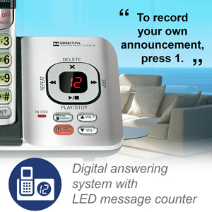 built-in digital answering machine