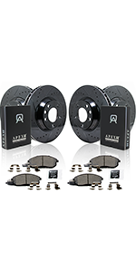 performance, brake, kit, coated, elite, slotted, drilled, vented, ready to install, suv,