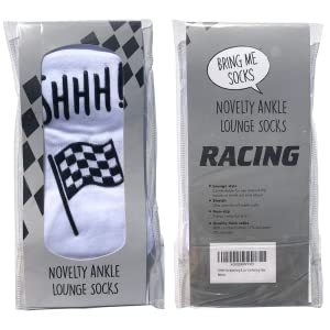 Racing novelty socks watching f1 grand prix formula one gift present for him dad brother funny