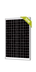 Newpowa 30W Solar Panel Monocrystalline