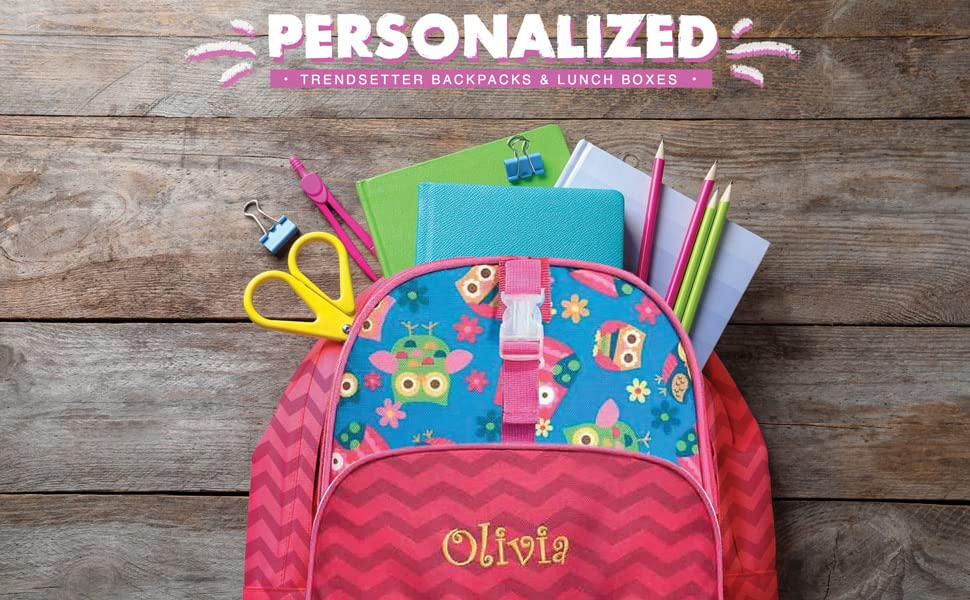 Personalized Trendsetter Backpacks amp; Lunch Boxes