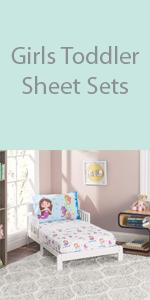girls toddler sheet set