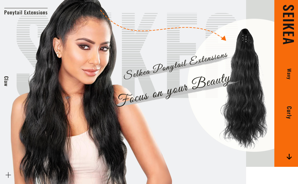 ponytail extensions for girls