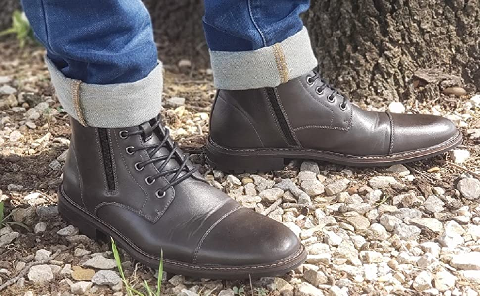 Mens Aldo Boots Military Fashion Dress Army Casual Cap Toe Zapatos por Hombre Botas