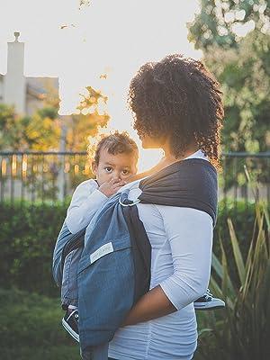 maya wrap sling hiking carrier baby wrap cotton ring sling lightly padded toddler
