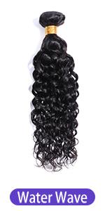 Water Wave 100% unprocessed virgin human hair bundles wet and wavy weaves