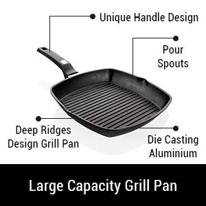 LARGE CAPACITY GRILL PAN