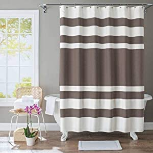 shower curtain gray lines