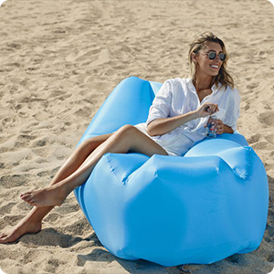 wekapo air lounger pillow shaped design