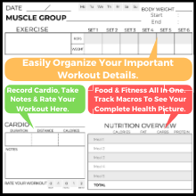 organize all of your information detailed fitness journal workout notebook