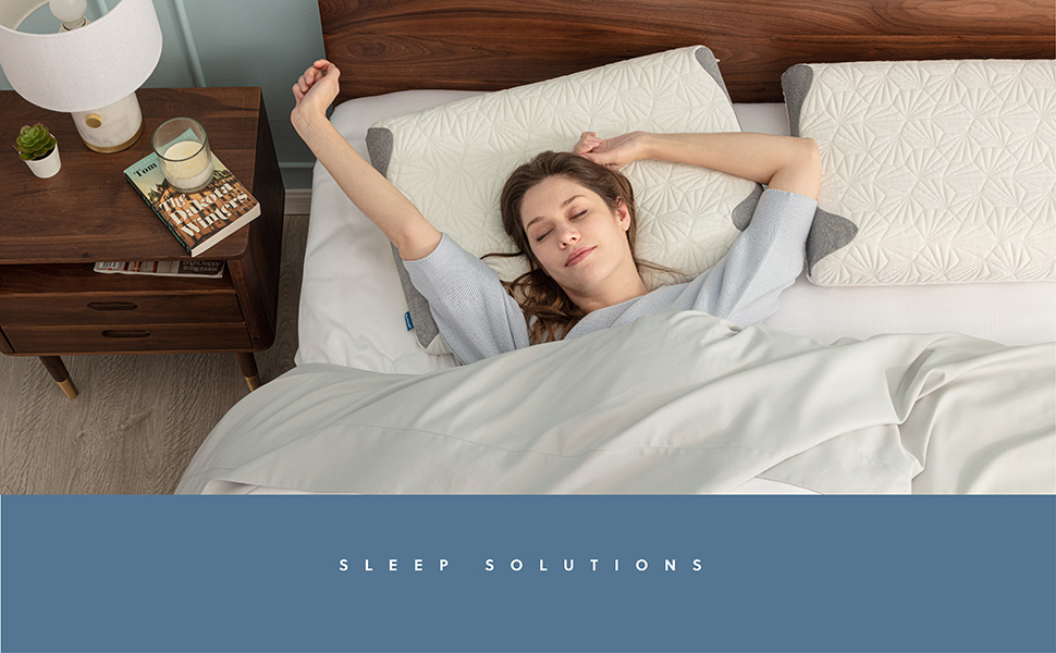 get cozy with the Bedsure Double-Sided Cervical Pillow Relieves Neck Pain for all Sleeper Types