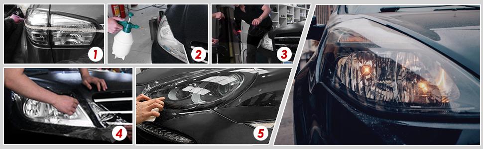Tönungsfolie Aufkleber für Autoscheinwerfer