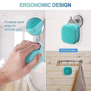 bathing sponge for dead skin removal head massager loofah for bathing  women silicon bath scrubber