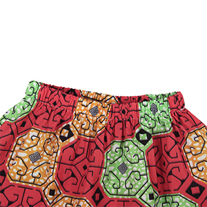 Jurebecia Girls Skirt African Style Pattern Print Dress Toddler Kids Attire Ethnic Outfit with Headband 2Pc Set Clothes