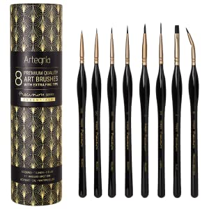 Artegria precision series 8pcs brush set