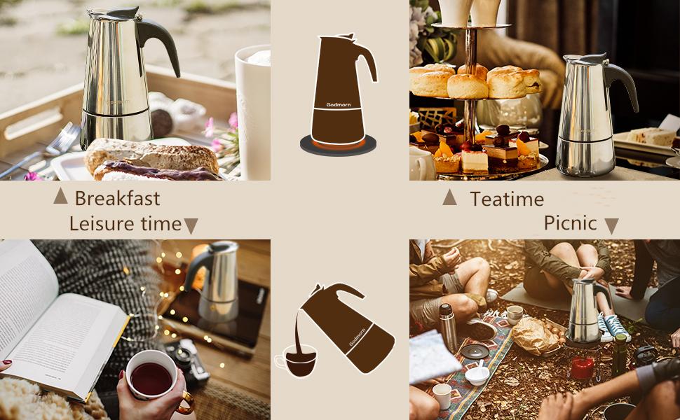 kaffebryggare för spis