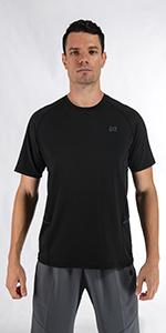 Men Black Workout Shirt