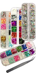 Butterfly nail sequins