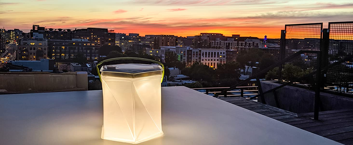 LuminAID Bloomio Twist Solar Lantern with Bluetooth and iPhone/Android App-Integration