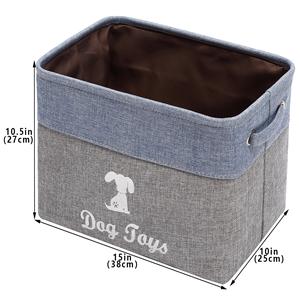 large dog bin diapers Perfect for organizing pet toys blankets coats Morezi Cotton round dog toy box large with handle pee mats leashes dog toy basket