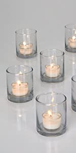 """3"""" Clear Glass Votive Holder, Set of 48 Reception Wedding Party Event Bulk Aromatherapy Table"""