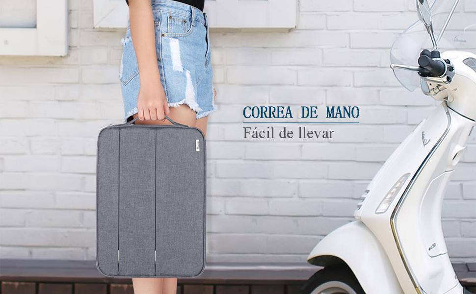 Voova bolsa para laptop de 15.6 pulgadas gris