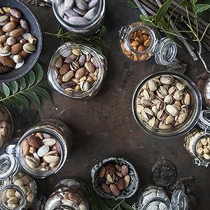 nuts on wood
