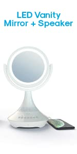 Atomi LED Vanity Mirror + Speaker