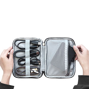Newlt Puscifer Data Line Storage Bag Cable Box Waterproof Electronics Accessories Data Cable Package Portable