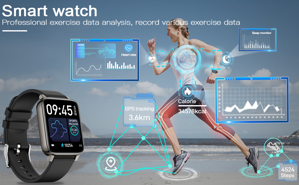 fitness tracker with blood pressure monitor ,ios compatible smart watch ,smartwatches android phones