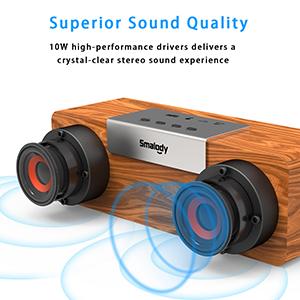 Bluetooth wooden speaker