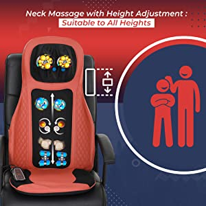 neck massage with height adjustment