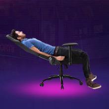 Swivel Recliner with Headrest and Lumbar Pillow Esports Chair