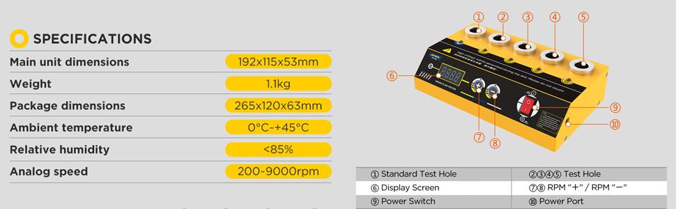 Spark Plug Tester 100-240v Adjustable Double Hole Diagnostic Scanner 12V Vehicle Detector  Ignition
