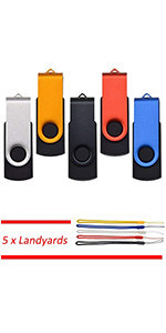 USB Flash Drive 2GB 5 Pack Thumb Drives