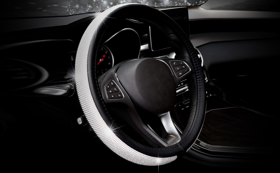ChuLian Bling Bling Rhinestones Steering Wheel Cover