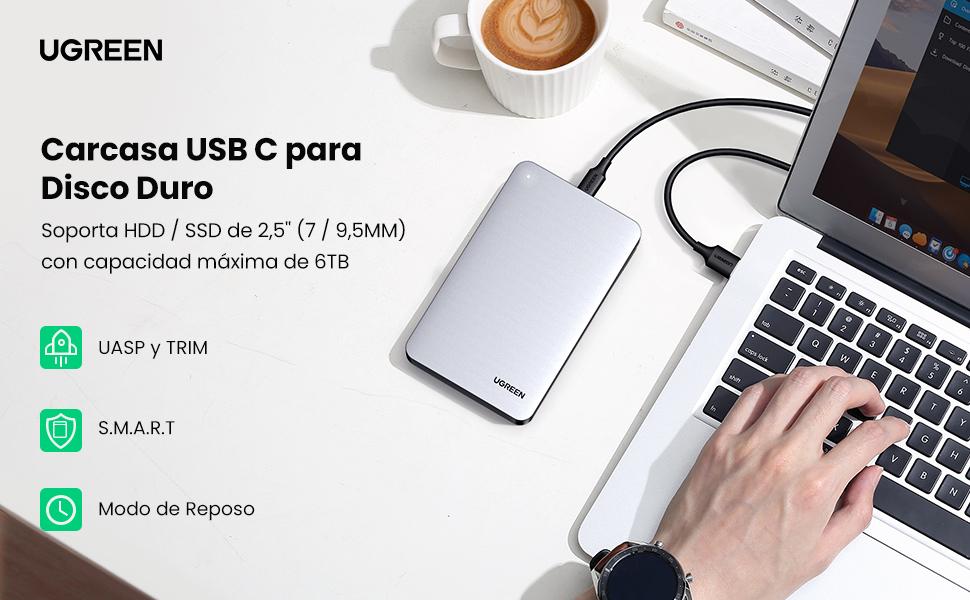 UGREEN Carcasa Disco Duro 2.5