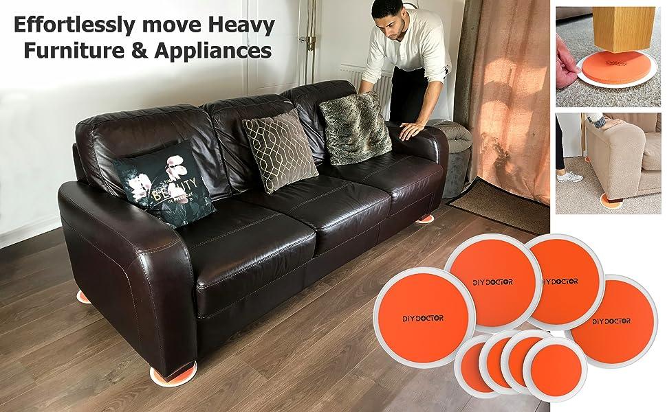 SUPER FURNITURE SLIDERS Moving Heavy Furniture slide removals easily appliances wheels under