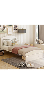 Twin Bed Frame with Drawer